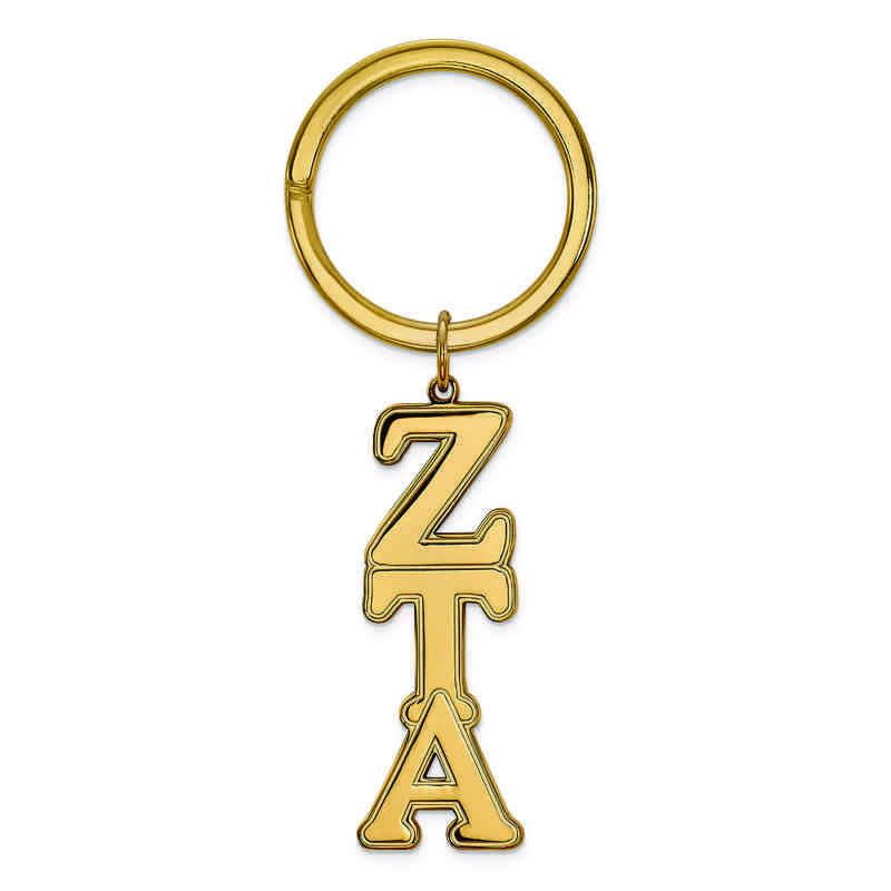 GP010ZTA: SS w/GP LogoArt Zeta Tau Alpha Key Chain