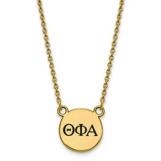 GP016TPA-18: SS w/GP LogoArt Theta Phi Alpha Sm Enl Pend w/Necklace