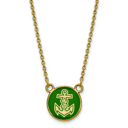 GP042ALS-18: SS w/GP LogoArt Alpha Sigma Tau Sm Enl Pend w/Necklace
