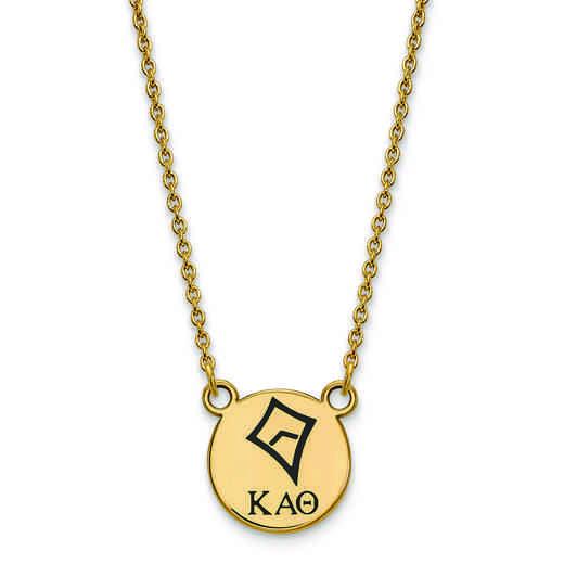 GP044KAT-18: SS w/GP LogoArt Kappa Alpha Theta Sm Enl Pend w/Necklace