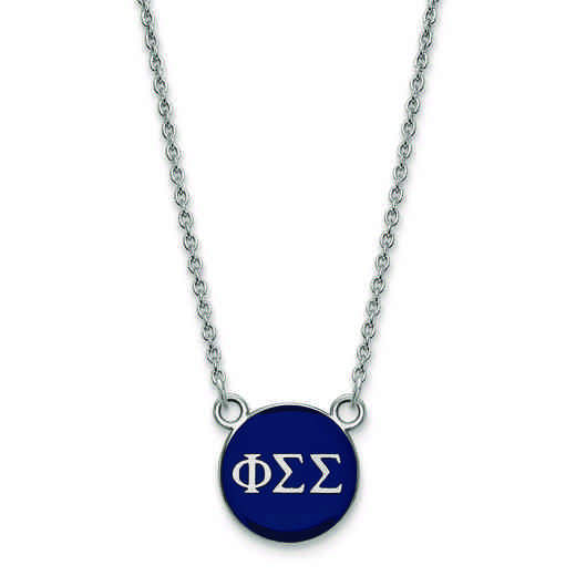 SS029PSS-18: SS LogoArt Phi Sigma Sigma Sm Enl Pend w/Necklace