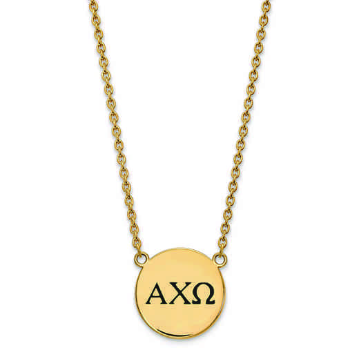 GP017ACO-18: SS w/GP LogoArt Alpha Chi Omega Large Enl Pend w/Necklace