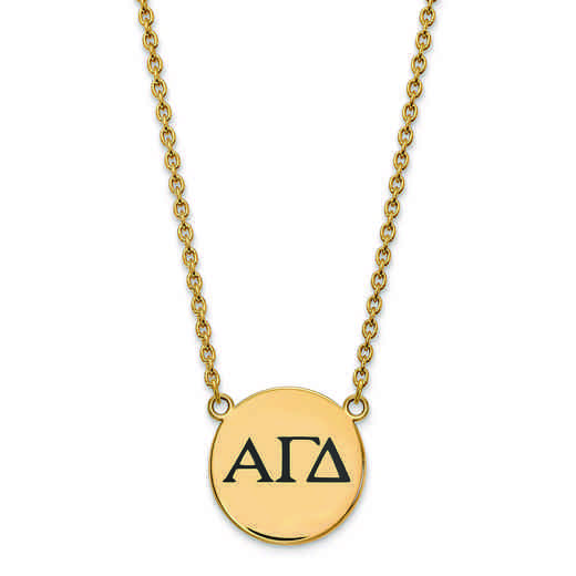 GP017AGD-18: SS w/GP LogoArt Alpha Gamma Delta Large Enl Pend w/Necklace