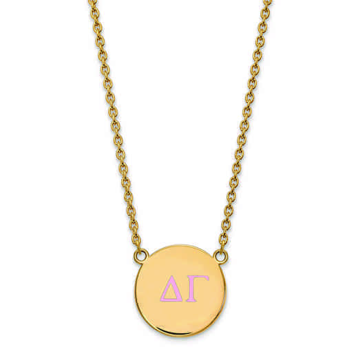 GP028DG-18: SS w/GP LogoArt Delta Gamma Large Enl Pend w/Necklace
