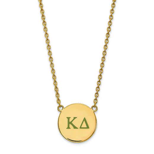 GP028KD-18: SS w/GP LogoArt Kappa Delta Large Enl Pend w/Necklace