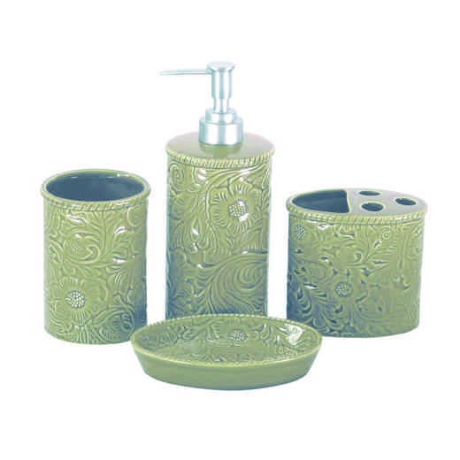 BA4001-OS-TP: HEA Savannah Bathroom Set, Taupe
