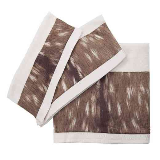 TL1731-OS-CR: HEA 3pc Axis Towel Set - Cream