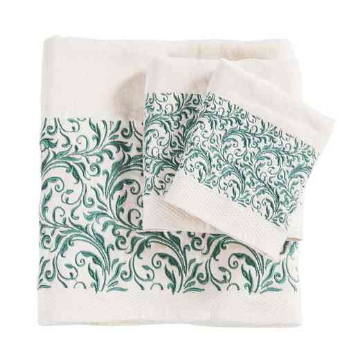 TW1762-OS-CR: HEA 3pc Wyatt Towel Set, Cream