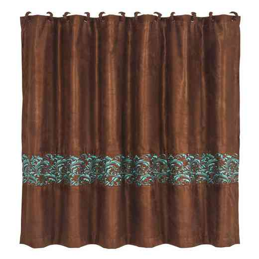 SC1762: HEA Wyatt Shower Curtain with Scroll Pattern