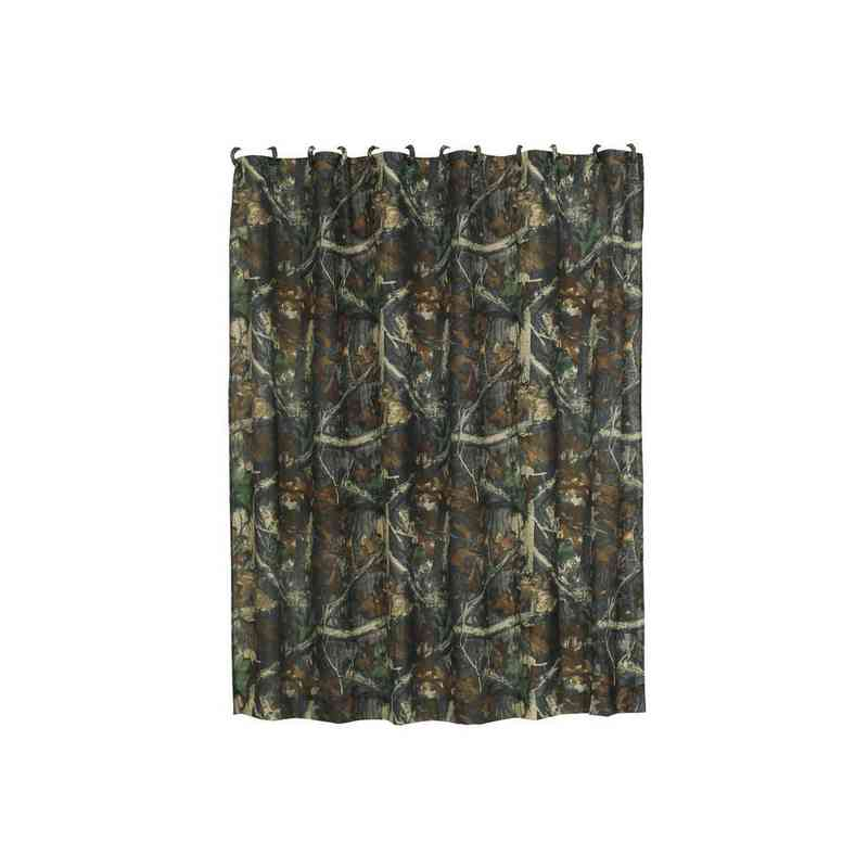HiEnd Accents Oak Camo Shower Curtain