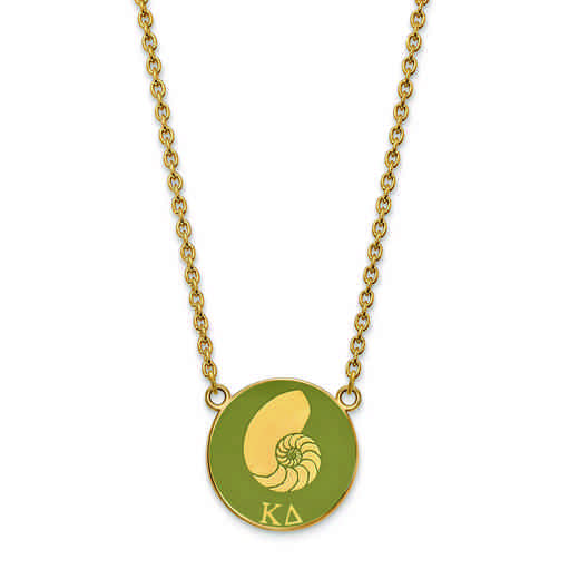 GP043KD-18: SS w/GP LogoArt Kappa Delta Large Enl Pend w/Necklace