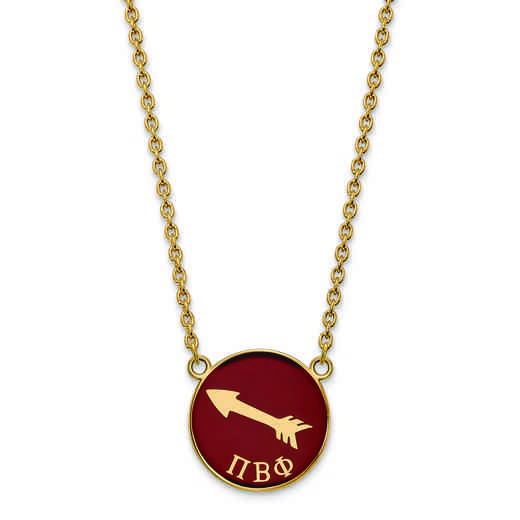 GP043PBP-18: SS w/GP LogoArt Pi Beta Phi Large Enl Pend w/Necklace