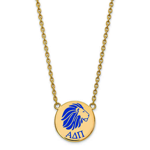 GP045ADP-18: SS w/GP LogoArt Alpha Delta Pi Large Enl Pend w/Necklace