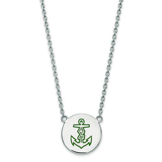 SS045ALS-18: SS LogoArt Alpha Sigma Tau Large Enl Pend w/Necklace