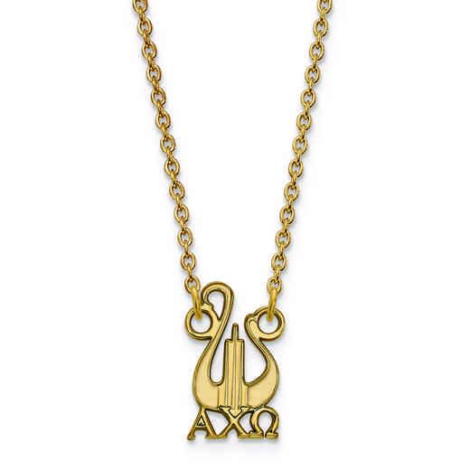 GP039ACO-18: SS w/GP LogoArt Alpha Chi Omega Small Pend w/Necklace