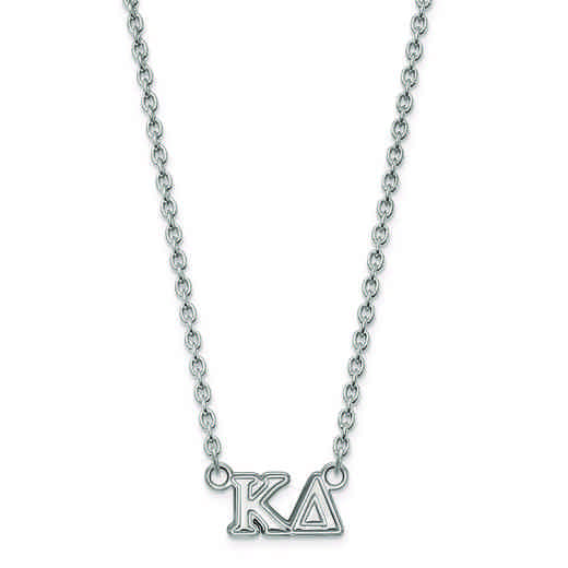 SS007KD-18: SS LogoArt Kappa Delta Medium Pend w/Necklace