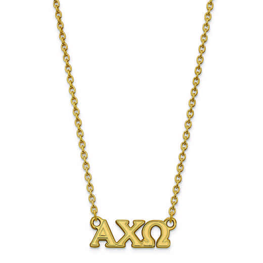 GP007ACO-18: SS w/GP LogoArt Alpha Chi Omega Small Pend w/Necklace
