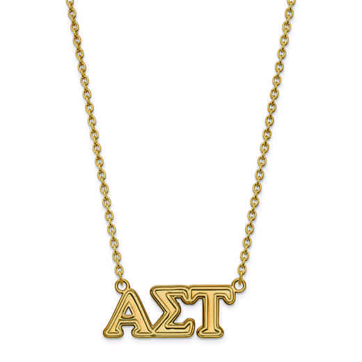 GP007ALS-18: SS w/GP LogoArt Alpha Sigma Tau Medium Pend w/Necklace