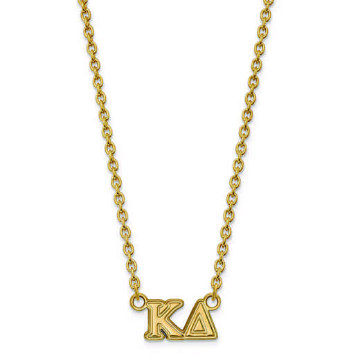 GP007KD-18: SS w/GP LogoArt Kappa Delta Medium Pend w/Necklace