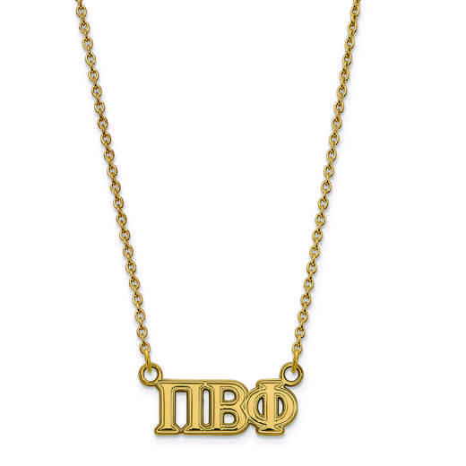 GP007PBP-18: SS w/GP LogoArt Pi Beta Phi Medium Pend w/Necklace