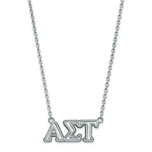 SS007ALS-18: SS LogoArt Alpha Sigma Tau Medium Pend w/Necklace