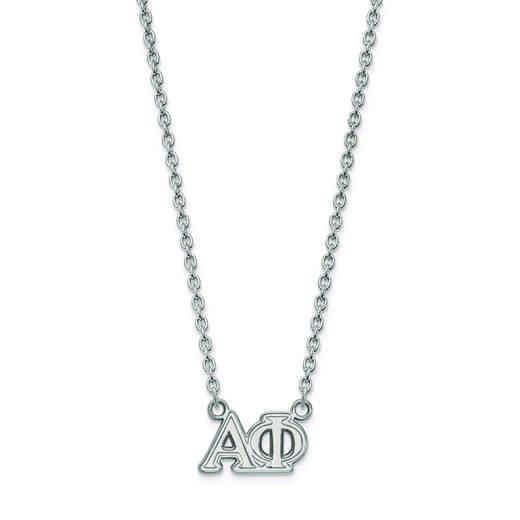 SS007APH-18: SS LogoArt Alpha Phi Medium Pend w/Necklace