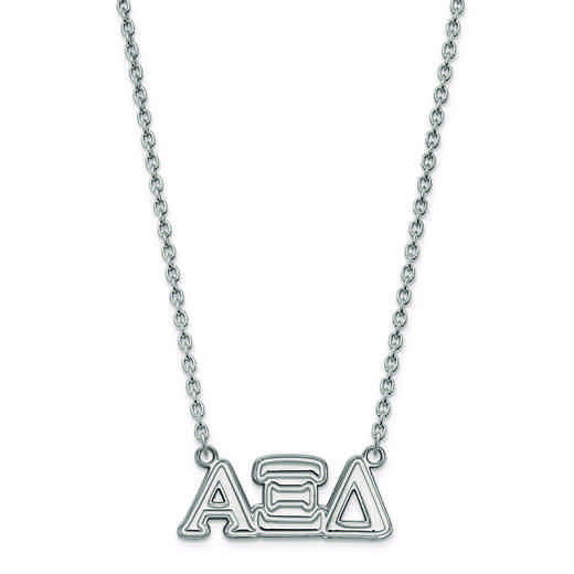 SS007AXD-18: SS LogoArt Alpha Xi Delta Medium Pend w/Necklace