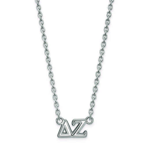 SS007DZ-18: SS LogoArt Delta Zeta Medium Pend w/Necklace