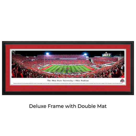 Ohio State Buckeyes Football - Band Script - Panoramic Print