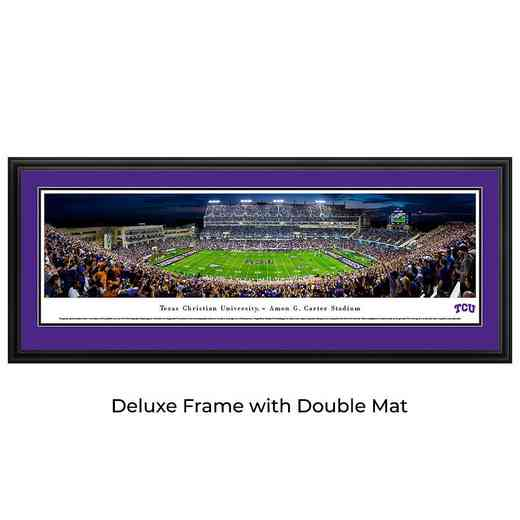 TCU Horned Frogs Football - 50 Yard at Night - Panoramic Print