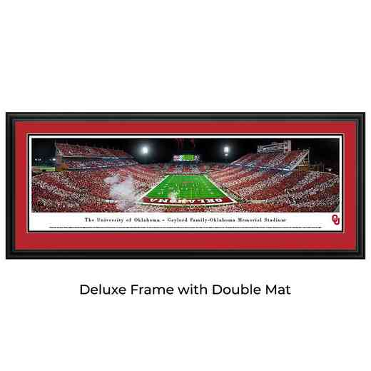 Oklahoma Sooners Football - End Zone-Stripe - Panoramic Print