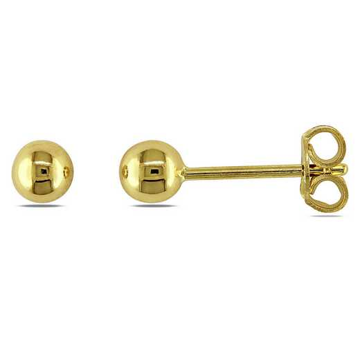 BAL000652: Children's Ball Stud Earrgs  18k Polished YLW GLD