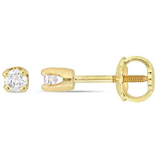 BAL000644: 1/10 CT TW Diamond Stud Earrgs for Children  14k YLW GLD