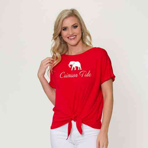 Alabama Tia- Tie Front Short Sleeve Top by Flying Colors