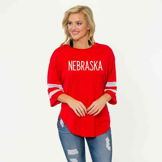 Nebraska Jordan Short Sleeve Gameday Jersey