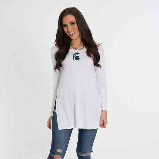 MIchigan State- Marie Side Slit Tunic