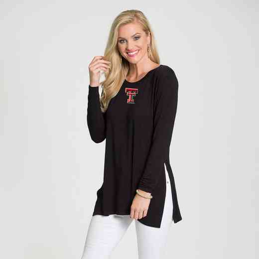 Texas Tech- Marie Side Slit Tunic by Flying Colors