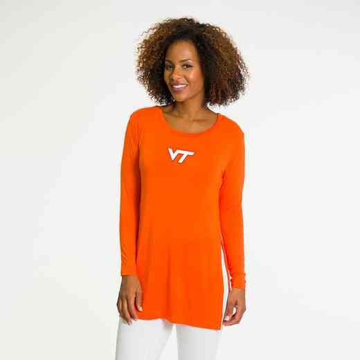 Virginia Tech-Marie Side Slit Tunic by Flying Colors