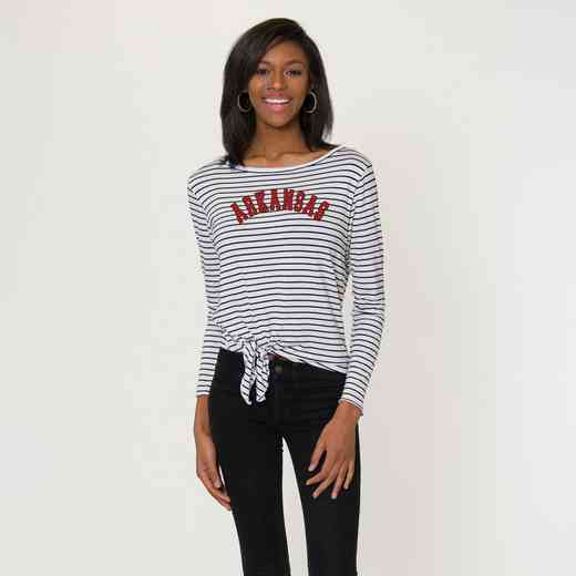 Arkansas  Tara Long Sleeve Tie-Front Top by Flying Colors