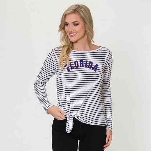 Florida  Tara Long Sleeve Tie-Front Top by Flying Colors