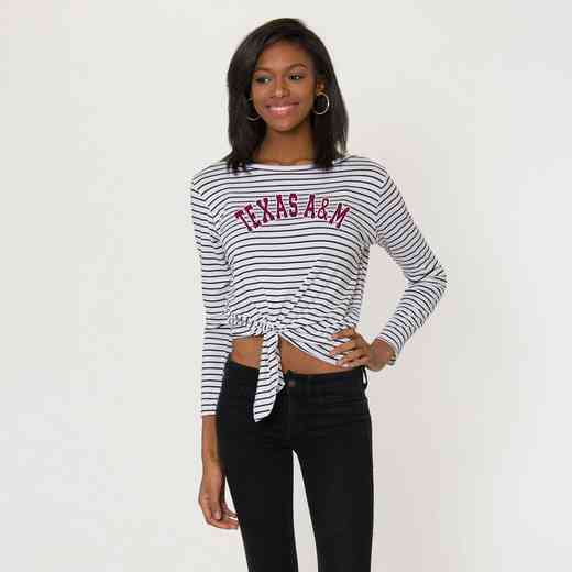 Texas A&M  Tara Long Sleeve Tie-Front Top by Flying Colors