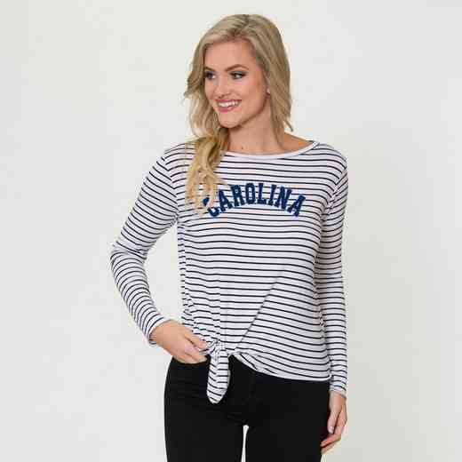 UNC  Tara Long Sleeve Tie-Front Top by Flying Colors