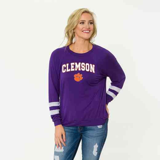 Clemson-Jennifer Long Sleeve Gameday Jersey by Flying Colors