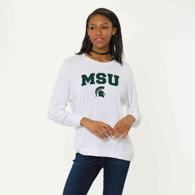Michigan State-Jennifer Long Sleeve Gameday Jersey by Flying Colors