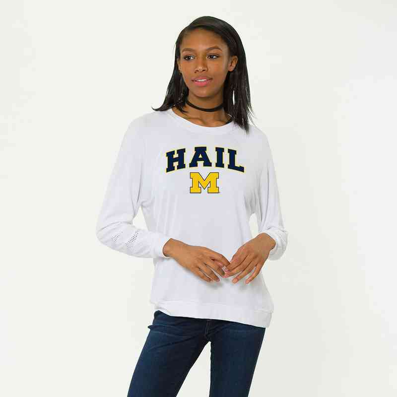 Michigan-Jennifer Long Sleeve Gameday Jersey by Flying Colors
