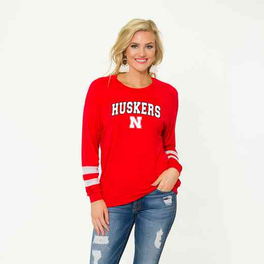 Nebraska-Jennifer Long Sleeve Gameday Jersey by Flying Colors