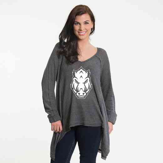 Arkansas  Melody Thermal Knit Top by Flying Colors