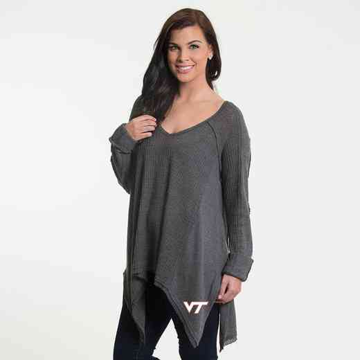 Virginia Tech   Melody Thermal Knit Top by Flying Colors