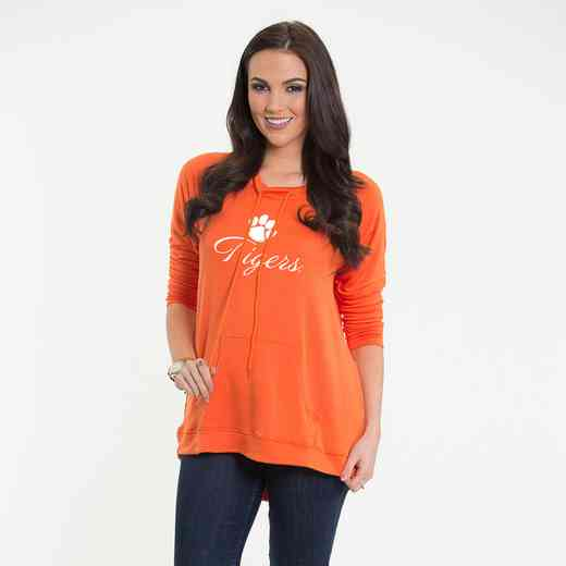 Clemson - Katie Key-hole cut-out back pullover by Flying Colors