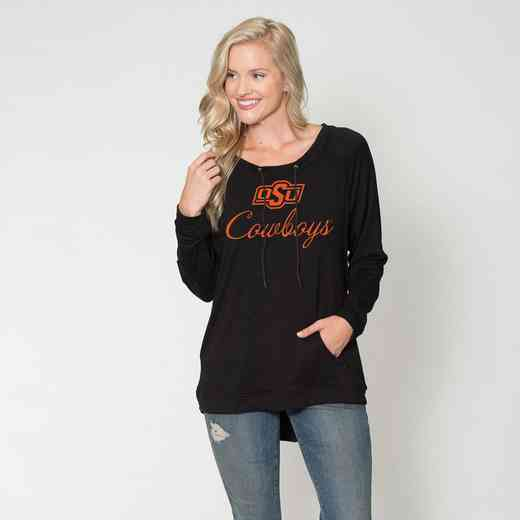 Oklahoma State - Katie Key-hole cut-out back pullover by Flying Colors